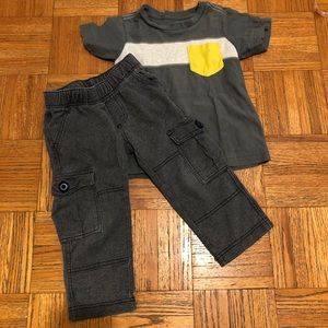 Tea Collection Boys 3T Outfit Pants Tee